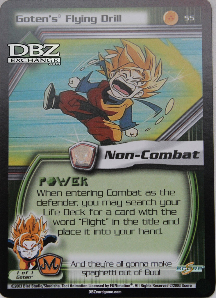 55 Goten's Flying Drill