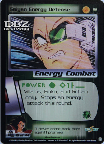92 Saiyan Energy Defense