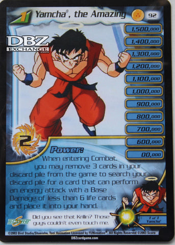 92 Yamcha the Amazing Lv1
