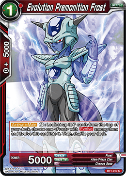 BT1-017 Evolution Premonition Frost