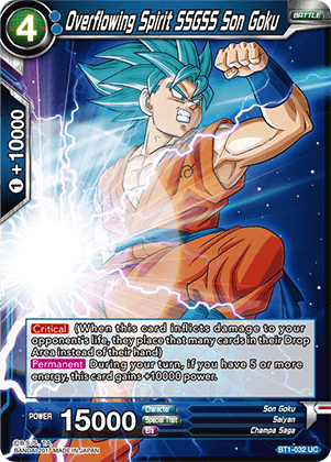 BT1-032 Overflowing Spirit SSGSS Son Goku