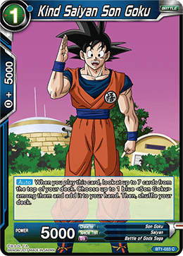 BT1-033 Kind Saiyan Son Goku