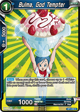 BT1-040 Bulma God Tempter