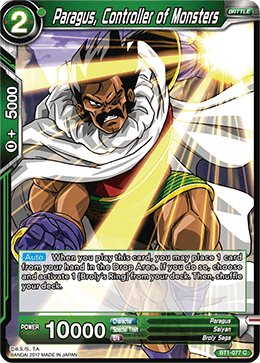 BT1-077 Paragus Controller of Monsters