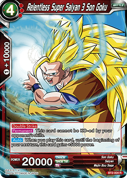 dragon ball super tcg bt2 004 relentless super saiyan 3 son goku