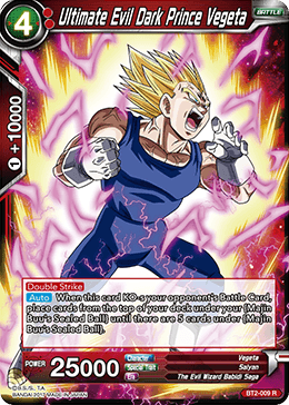 BT2-009 Ultimate Evil Dark Prince Vegeta