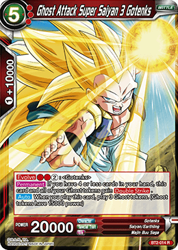 BT2-014 Ghost Attack Super Saiyan 3 Gotenks