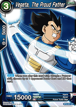 BT2-041 Vegeta, The Proud Father