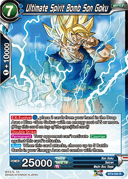 BT3-034 Ultimate Spirit Bomb Son Goku