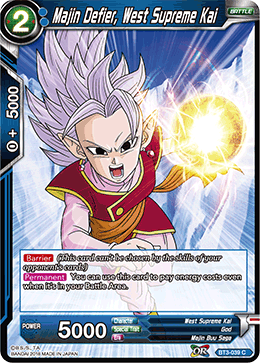 BT3-039 Majin Defier, West Supreme Kai
