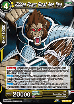 BT3-096 Hidden Power Great Ape Tora