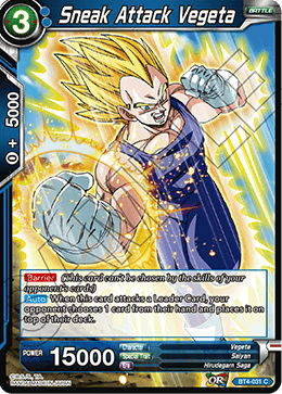 BT4-031 Sneak Attack Vegeta
