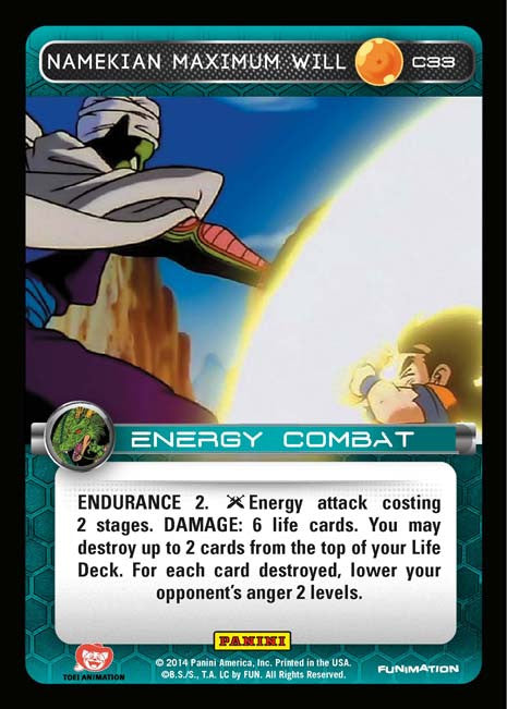 C33 Namekian Maximum Will