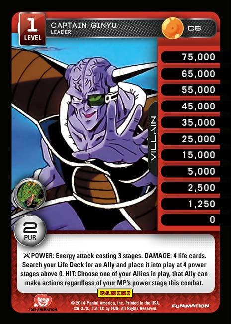 C6 Captain Ginyu Leader Lv1