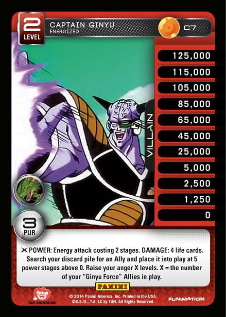 C7 Captain Ginyu Energized Lv2