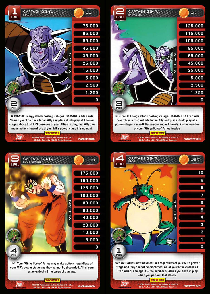 Captain Ginyu Lv1-4