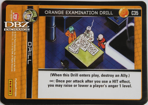 C35 Orange Examination Drill