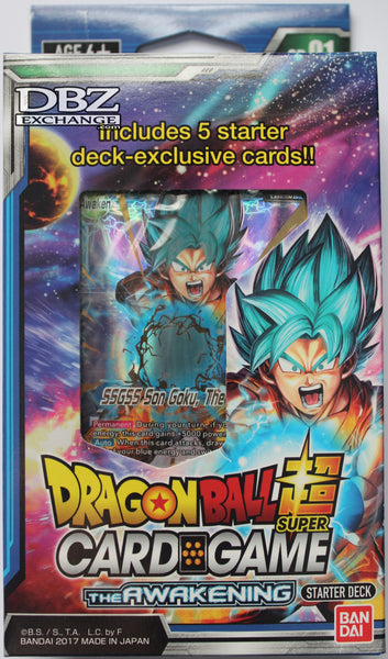 Dragon Ball Super Tcg The Awakening Starter Deck Sd01