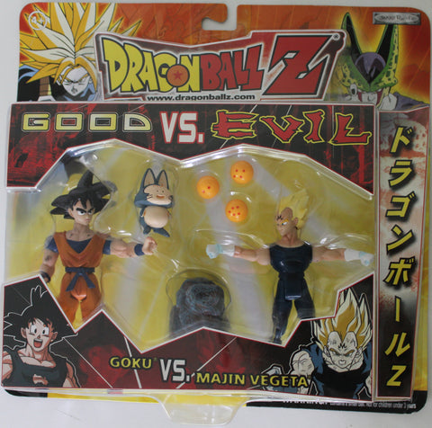 Good VS. Evil - Goku VS. Majin Vegeta - Action Figure Pack