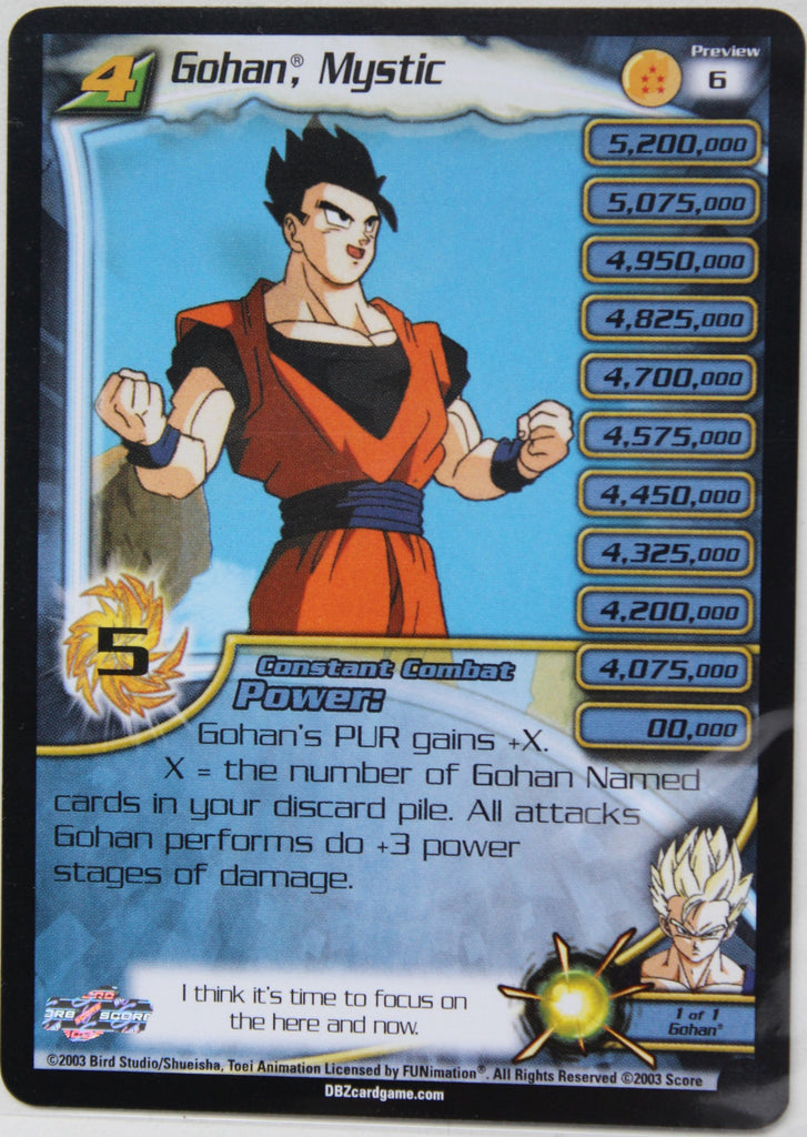Preview 6 Gohan Mystic Lv4