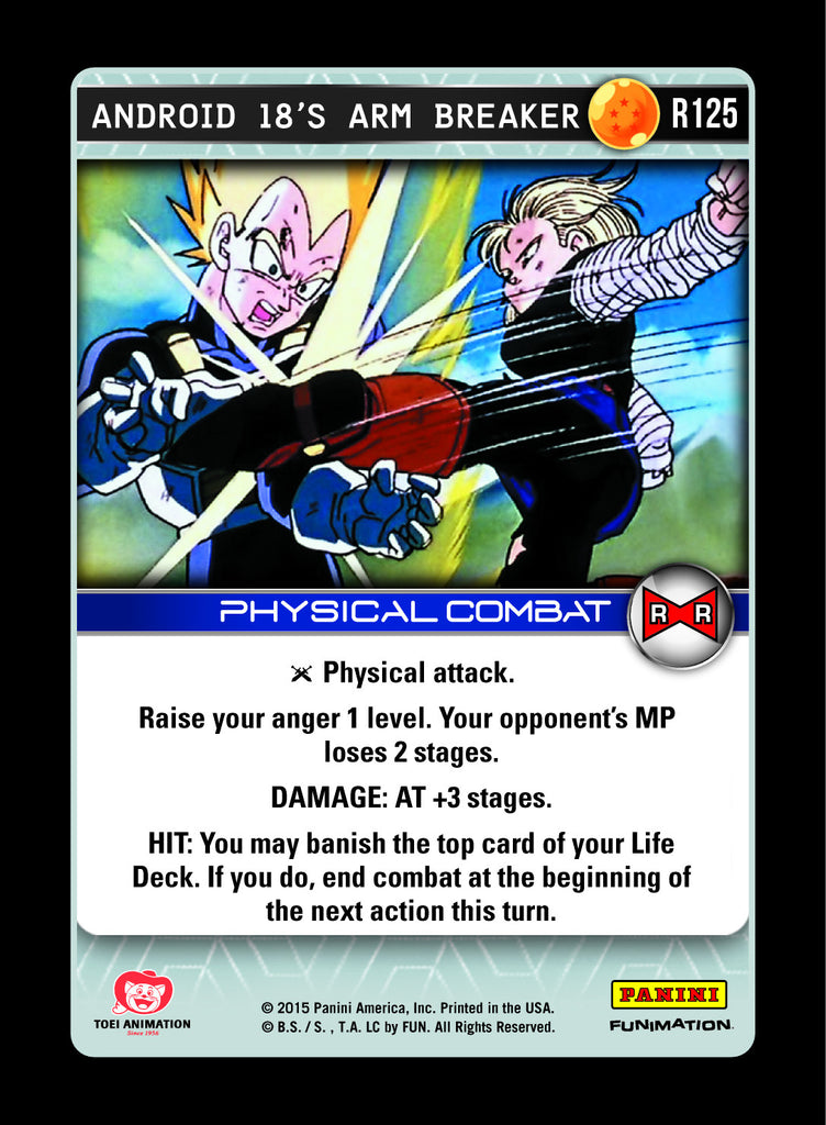 R125 Android 18's Arm Breaker