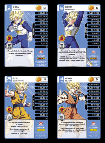 Goku Lv1-4 Base Prizm - Awakening MP Set