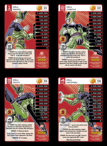 Cell Lv1-4 Base Prizm - Awakening MP Set