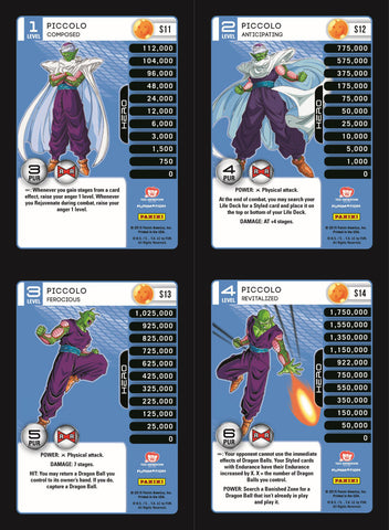 Piccolo Lv1-4 Base Prizm - Evolution MP Set