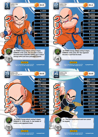 Krillin Lv1-4 Base Prizm - Base MP Set