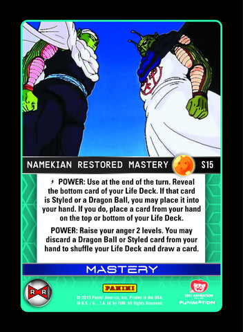 S15 Namekian Restored Mastery