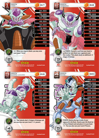 Frieza Lv1-4 Base Prizm - Base MP Set