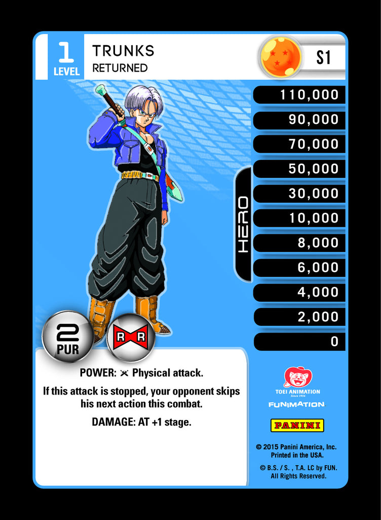 S1 Trunks Returned Lv1 Rainbow Prizm