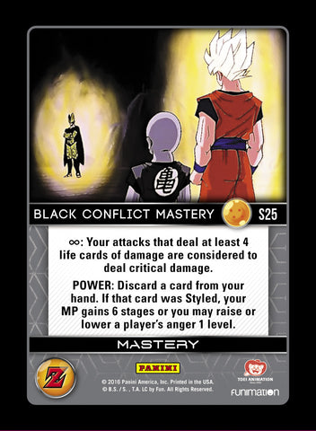S25 Black Conflict Mastery