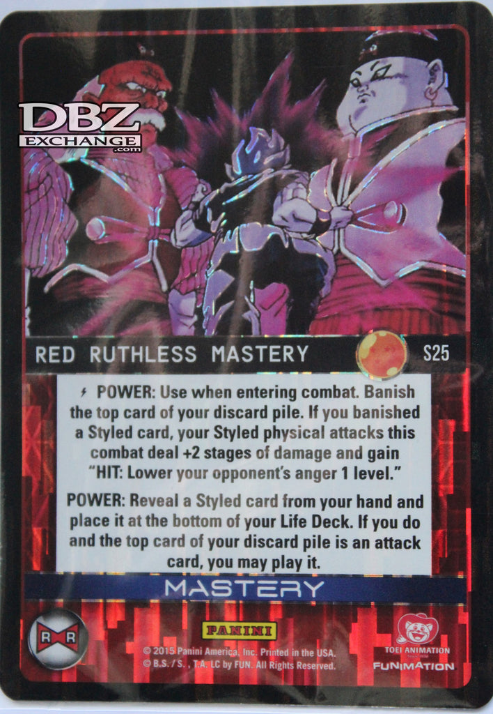 S25 Red Ruthless Mastery Foil