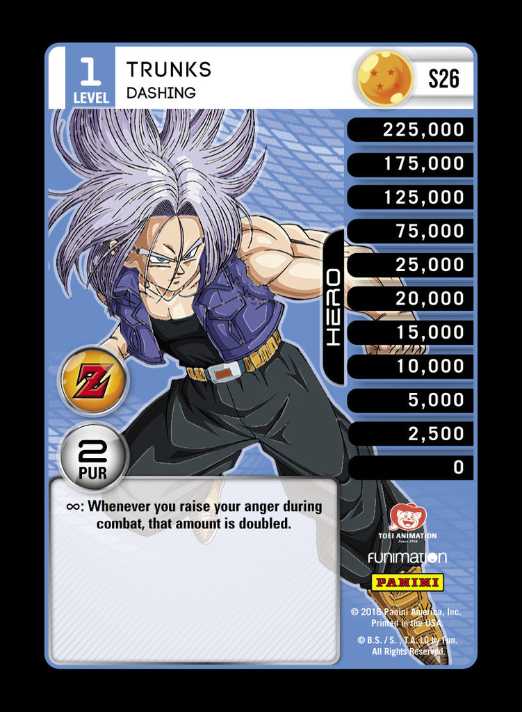 S26 Trunks Dashing Lv1 Rainbow Prizm
