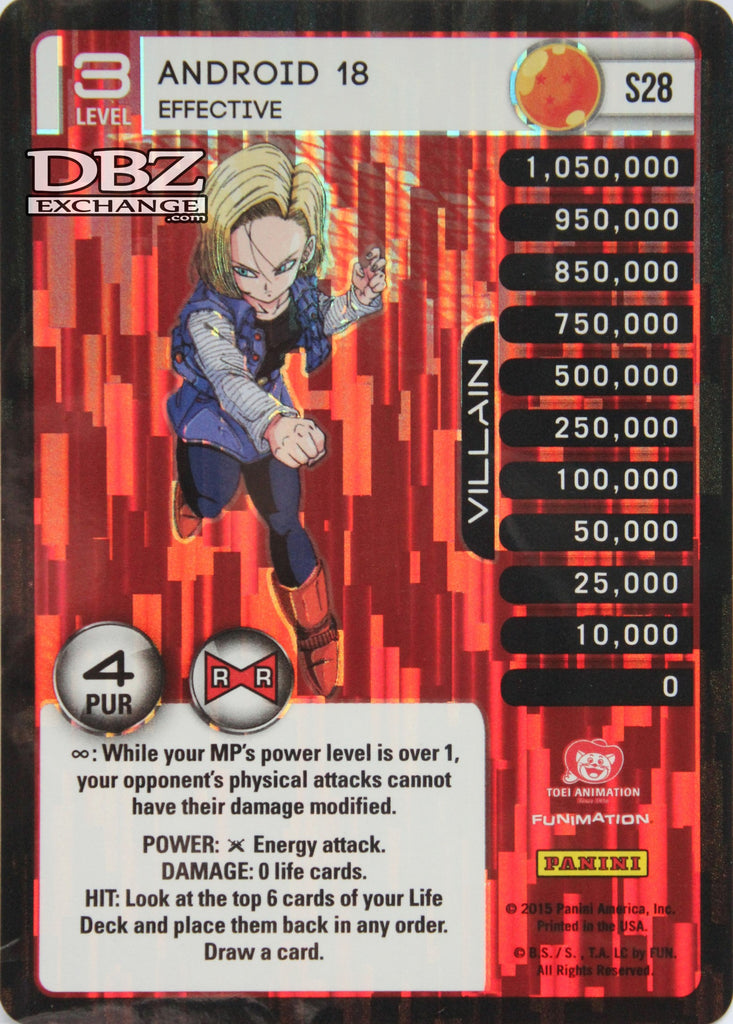 S28 Android 18 Effective Lv3 Foil