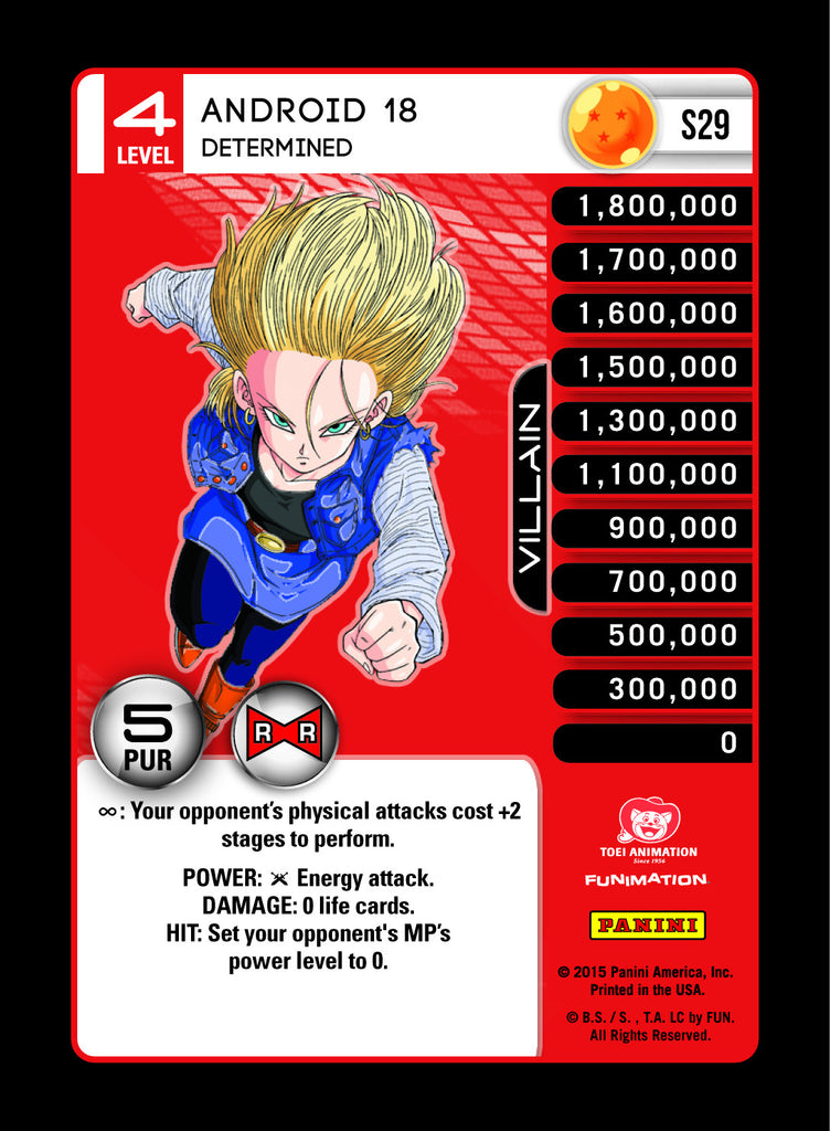 S29 Android 18 Determines Lv4 Rainbow Prizm