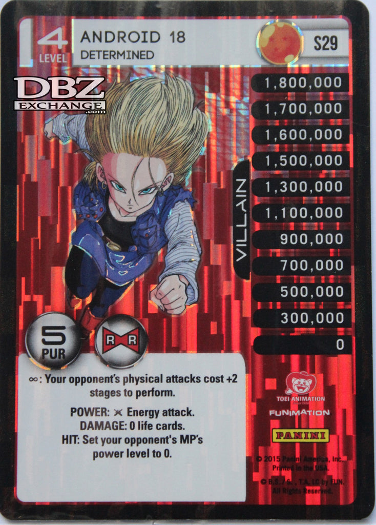S29 Android 18 Determined Lv4 Foil