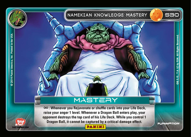 S30 Namekian Knowledge Mastery