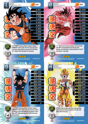 Goku Lv1-4 Base Prizm - Base MP Set