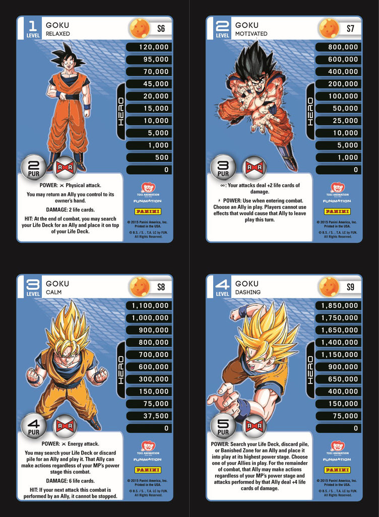 Goku Lv1-4 Base Prizm - Evolution MP Set