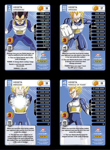 Vegeta Lv1-4 Base Prizm - Awakening MP Set