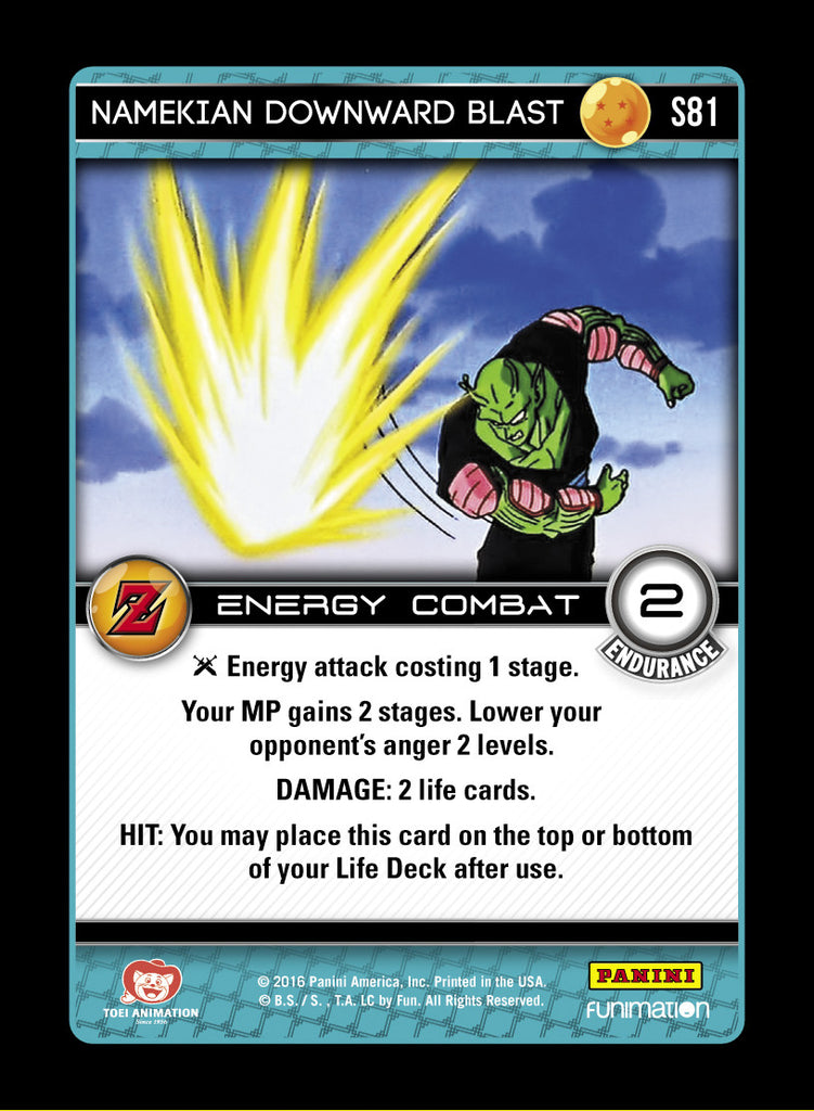 S81 Namekian Downward Blast