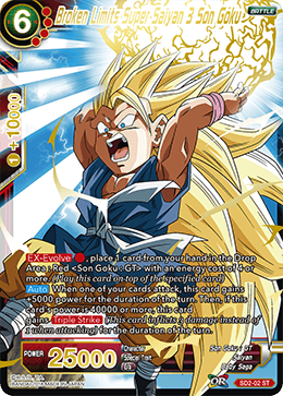 SD2-02 Broken Limits Super Saiyan 3 Son Goku
