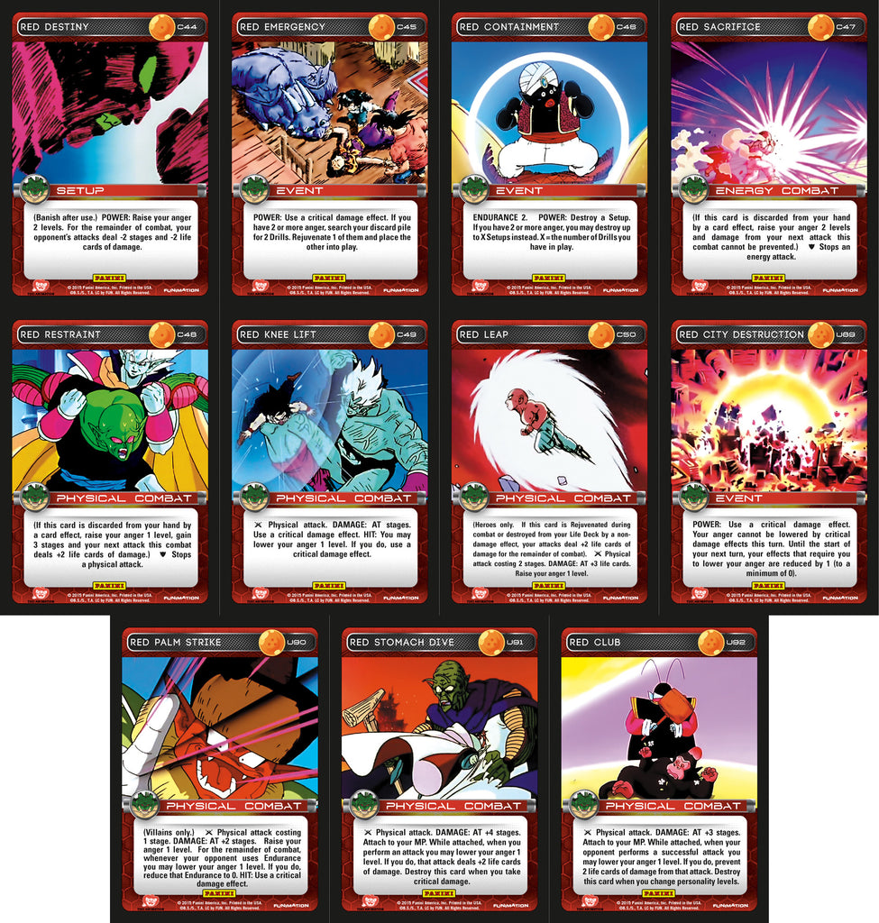 Red Booster Playset - Heroes & Villains