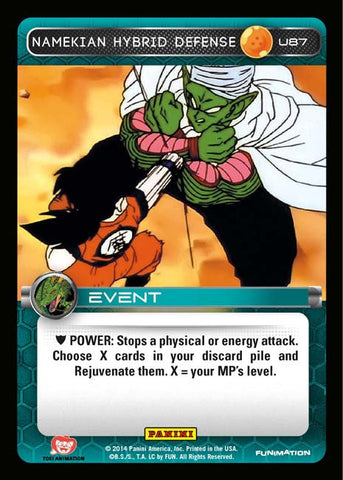 U87 Namekian Hybrid Defense