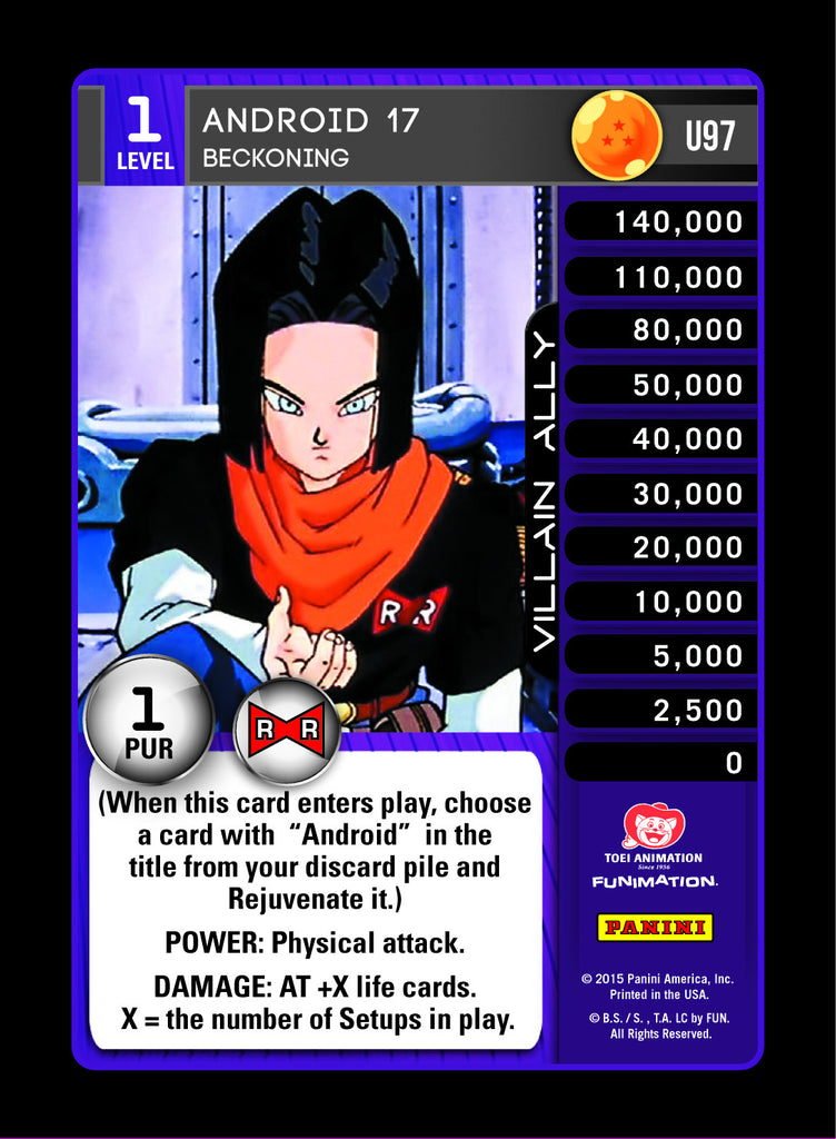 U97 Android 17 Beckoning Lv1