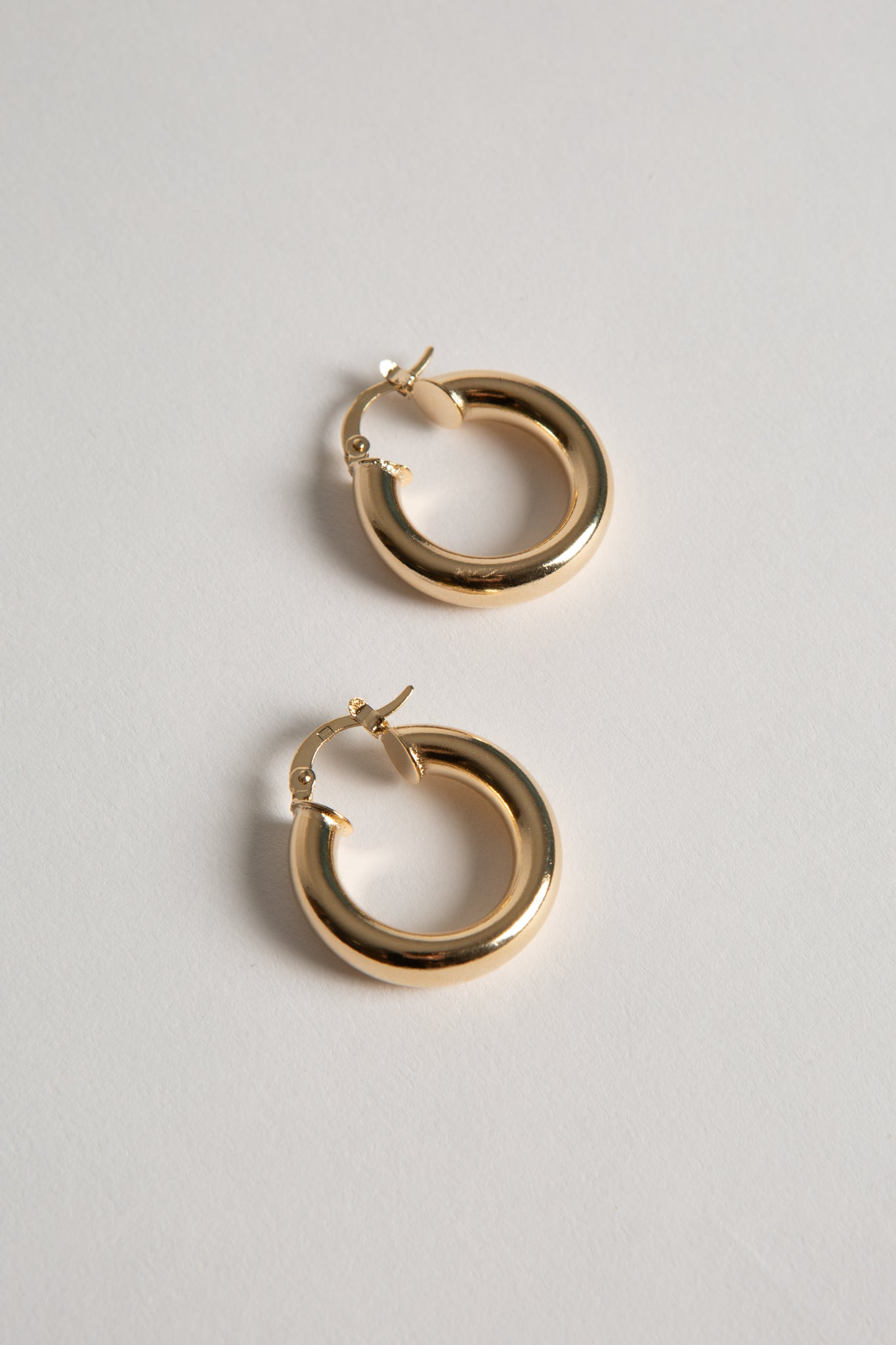 Gold Plated XS Stacey Hoops