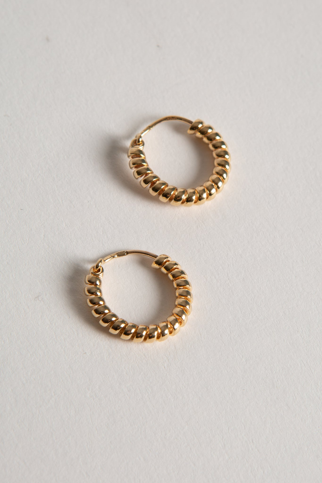 Mini Coil Gold Hoops