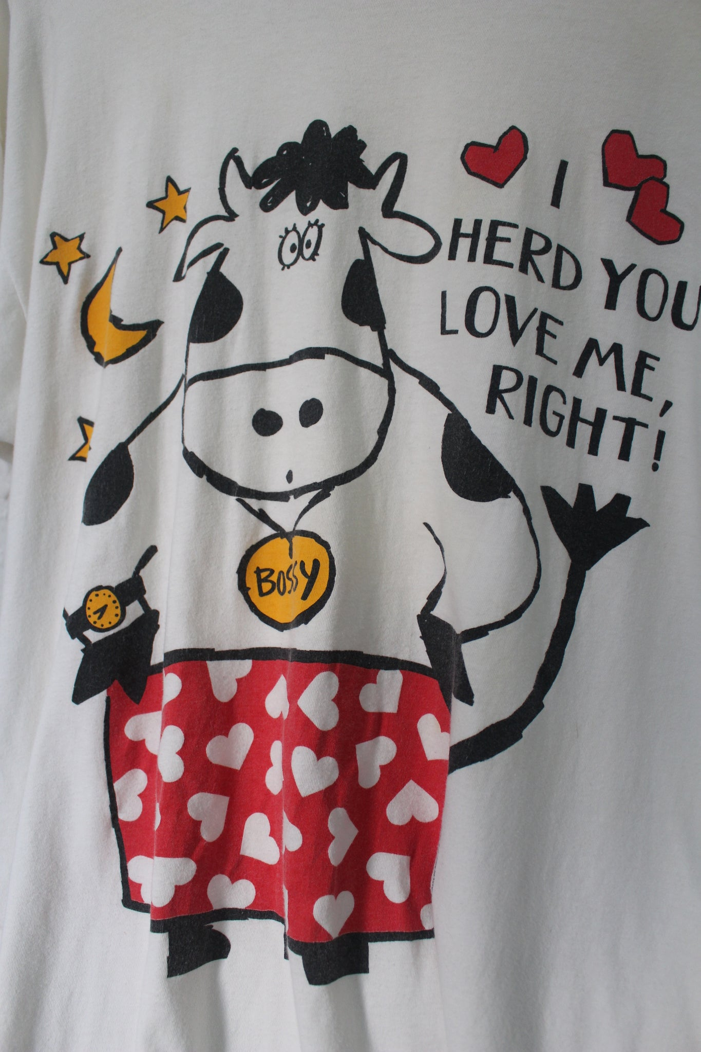 Vintage 'Herd U Love Me' Oversized T-shirt